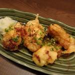 温炊き さんずい - 漬けこみ若鶏の南蛮からあげ(842円)