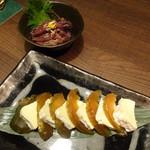 温炊き さんずい - 奈良漬けとカマンベールチーズ(648円)とほたるいかの沖漬け(486円)
