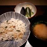 黒門町 紋屋 - ご飯セット
