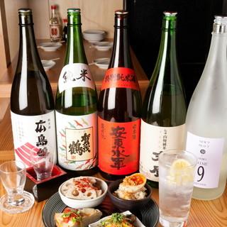 ご飯に合う日本酒多数!こだわりのレモンサワーもぜひ!