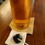 蕎麦 たじま - 生ビール 蕎麦味噌