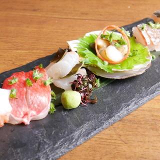 旬の鮮魚も絶品を。その時その時一番美味しいお造りをご用意!