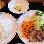 かぶと - 日替わりランチ 690円(和風豚ばらステーキ)