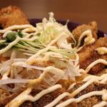 くじらや 守破理 - 三カツ丼マヨ&ソース