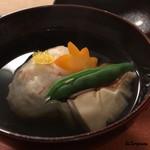 Terasawa - 料理写真:毛蟹真薯と松茸の椀物