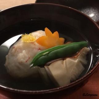 寺沢 - 料理写真:毛蟹真薯と松茸の椀物