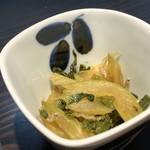 オ バロン ルージュ - 小鉢二つ目は、セロリのジャコ炒め(2018.2.28)