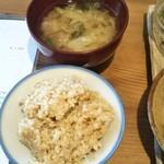 81668955 - 玄米ご飯と具たくさん味噌汁