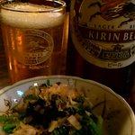 明眸 - ビール&お通し