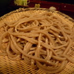 さらしな - 田舎蕎麦(800円)♪かなり太めのお蕎麦です。
