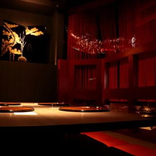 ◇全30席◇洗練された空間は、和の趣ある寛ぎの雰囲気