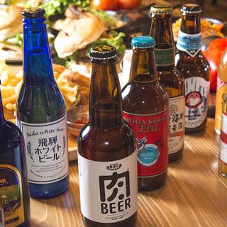 圧倒的日本全国の46種類のクラフトビールの品揃え