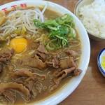 王王軒 - 肉玉子入り大(850円) めし小(100円)