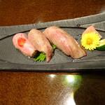 81681884 - 米沢牛寿司三種盛り