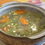 南粤美食 - 西洋菜紅蘿蔔南杏北杏陳腎豬骨湯