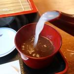 そば会席 立会川 吉田家 - 蕎麦湯イン