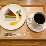 グッドニュースカフェ - ベイクドチーズケーキと炭火ブレンドコーヒー