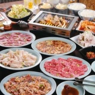 【こだわりのミニ冷麺付】焼肉定番メニューが勢ぞろい!