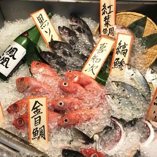 毎朝社長が豊洲から仕入れた新鮮な魚を皆様にご提供致します。