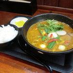 麺家 静 - スープカレー麺+ライス