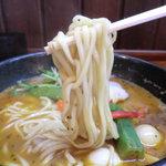 麺家 静 - 自家製の中太ストレート平麺☆