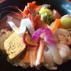 庄屋の館 - 料理写真:美しい海鮮丼。2月末のお魚達。