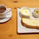 ヘルシーダイニング ナ・セオル - モーニングセット(650円・税抜)、お飲み物・ジンジャーココア