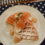 mori cafe - りんごとミルクジェラートヨーグルトクリームソース