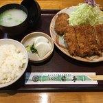 とんかつ竹亭 - 上ひれかつ定食(1,400円)