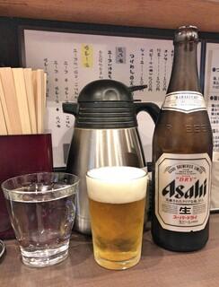麺屋りゅう - 水 + 瓶ビール