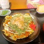 桜ん坊 - お好み焼き定食