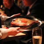 81703381 - ・本日の魚料理 トマトと青森のメバルのアクアパッツァ