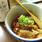 まったり~菜 - 料理写真:牛モツと根菜のトマト煮込み ¥300