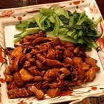 天祥 - 若鶏と椎茸の味噌炒め