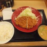 かつや - ロースカツ定食745円が感謝祭で583円(2018.1.21)
