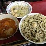 蓮爾 - 【2018.2.17】小つけ麺¥850+うずら¥100 ヤサイ&ニンニク