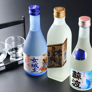 岩村山荘 - ドリンク写真:きき酒セット