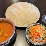 アジアンダイニング&バー ウパハル - 料理写真:チキンカレーセット