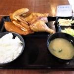 なるとキッチン - 若鶏半身揚げ定食