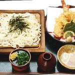 特攻おばさんの店 知覧茶屋 - 天ぷら盛ざるそば・うどん