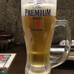 炉ばた焼 大蔵屋 - 生ビール(サントリー ザ・プレミアム・モルツ) 390円