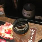 丸鶏 白湯ラーメン 花島商店 - 柚子胡椒など イロイロ充実 量の補充は欲しいのも