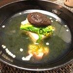 旬亭 - 白子豆腐、春菊の椀