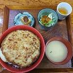 モンストロ バーベキュー - ロコモコ丼 大盛り ¥600