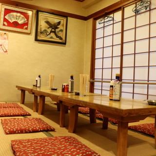 完全個室個室は4名様から25名様まで対応。
