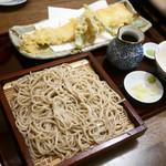 お蕎麦とお酒 さんぽ径 - 活〆穴子天ぷら せいろ ¥1,500