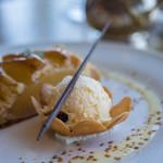 マリンブルー - 蘭姆酒漬葡萄乾冰酪(ラムレザン・アイスクリン)+巧克力(ショコラ)