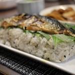 魚太郎 市場食堂 - 焼鯖寿司