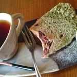 杜の季 - ミルクティー、抹茶あずきシフォンケーキ
