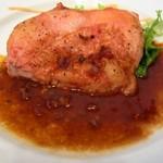 81760136 - 若鶏もも肉のオープン焼きデミグラスソース